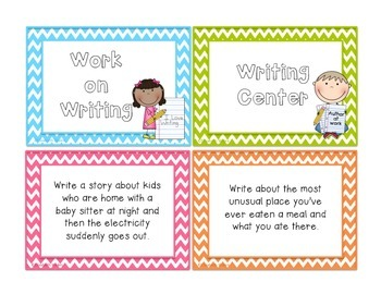 38 Work on Writing Center Task Cards - Pack ONE