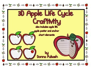 3D APPLE LIFE CYCLE CRAFTIVITY & APPLE LIFE CYCLE POSTER,