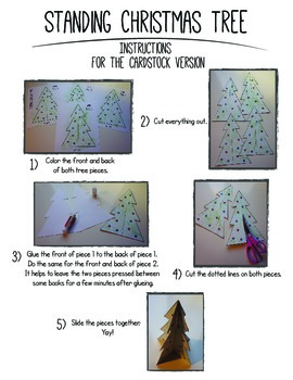 3D Cardstock Christmas Tree: Christmas Parties and Winter Fun