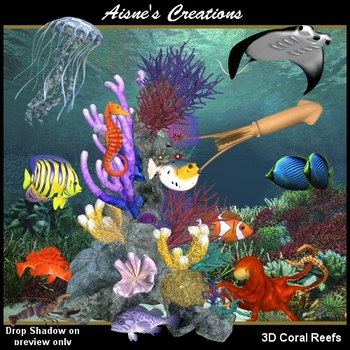 3D Coral Reefs Graphics Pack