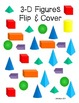 3D Shapes (3D Figure) Flip and Cover
