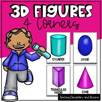 """3D Figures """"Four Corners"""" Game"""