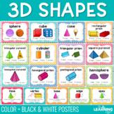 3D Geometric Shape Posters