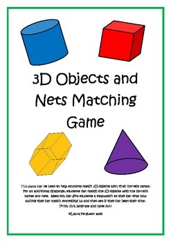 3D Objects and Nets Matching Game