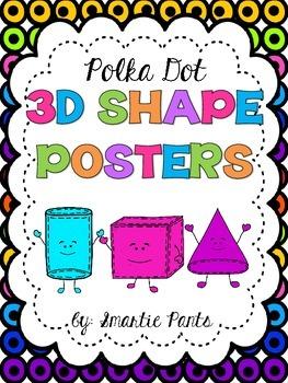 Polka Dot 3D Shape Posters