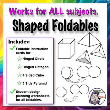 3D Pyramid Shaped Foldable Graphic Organizer