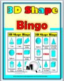 3D Shapes Bingo Game