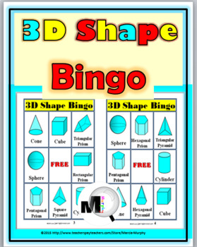 3D Shapes Bingo Game - Geometry Game - Geometry Activity