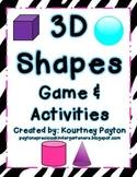 3D Shape Muncher Game & Activities