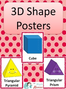 3D Shape Posters: Red