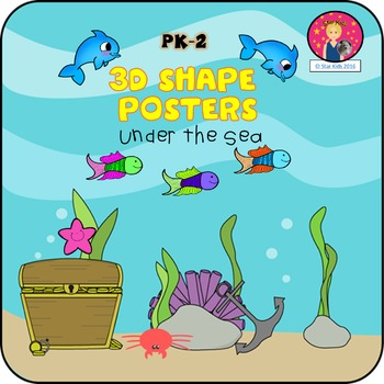 3D Shape Posters {Under the Sea}