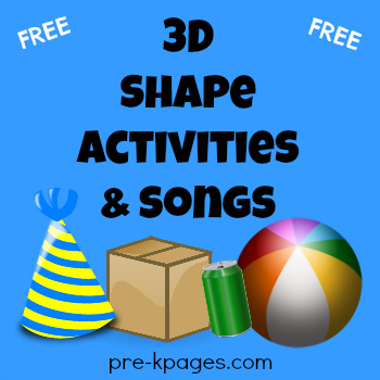 3D Shape Songs and Activities FREEBIE