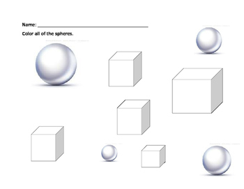 3D Shape Worksheet Review