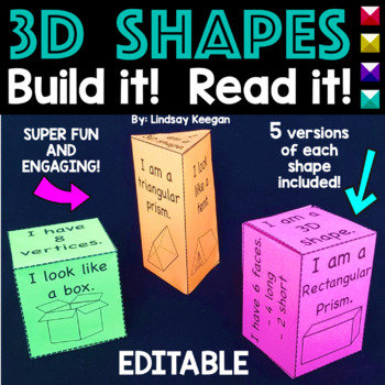 3D Shapes - Build the Shape, Read the Shape!