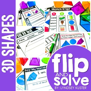 3D Shapes - Flip and Solve Books