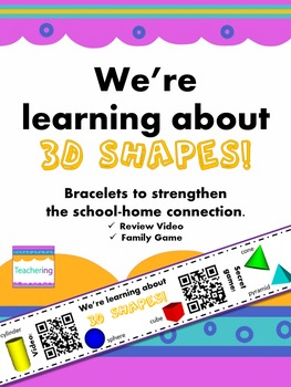 3D Shapes Homework {Bracelet with review video & family game}