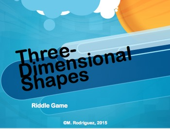 3D Shapes Riddle Game