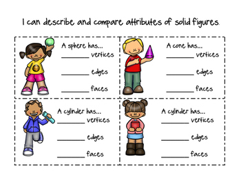 3D Shapes/Solid Figures (Identifying Attributes)