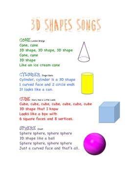 3D Shapes Songs