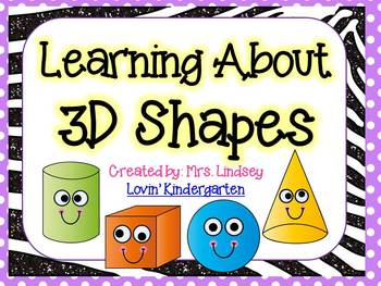 3D Shapes {Worksheets, Posters and Emergent Reader}