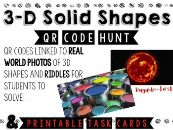 3D Solid Shape QR Code Hunt {with real world photographs!}