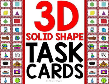 3D Solid Shape Task Cards