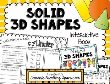 3D / Solid Shapes Interactive Book --- Exploring Solid / 3