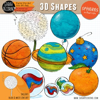 3D Spheres in Real Life Clip Art