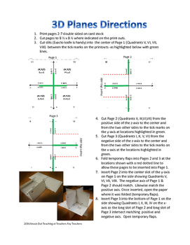 3D XYZ Coordinate Plane Model