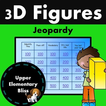 3D figures Trivia Game Show- Jeopardy style