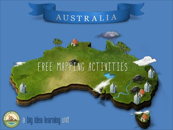 3D mapping activity - Australia by Big Idea Learning | TpT on strategy mapping, food mapping, architecture mapping,