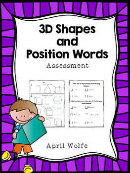 3D Shapes and Position Words Assessment
