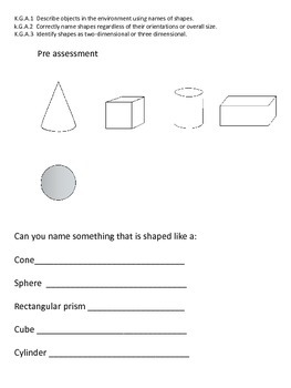 3D shape preassessment