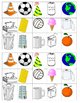 3D shapes cut and clue categorize FRENCH