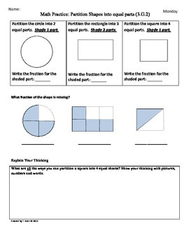Math Worksheets » Math Worksheets 3rd Grade Geometry - Free ...