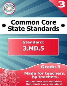 3.MD.5 Third Grade Common Core Bundle - Worksheet, Activit