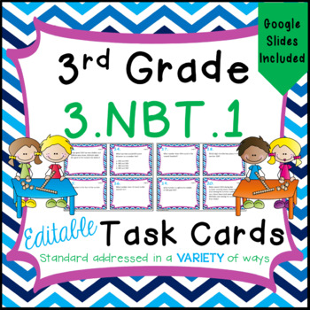 Rounding Task Cards - 3.NBT.1