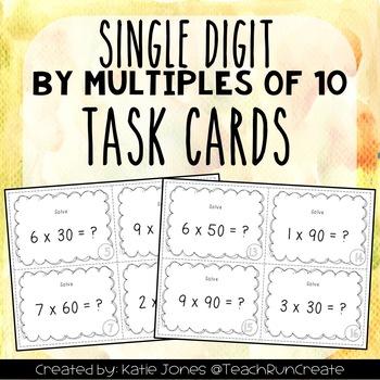 Single Digit by Multiples of 10 - Multiplication 3.NBT.3 T