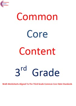 3.NBT.A.1, 3.NBT.A.2, 3.NBT.A.3 Third Grade Common Core Ma