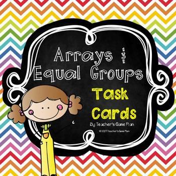Multiplication Task Cards Arrays & Equal Groups