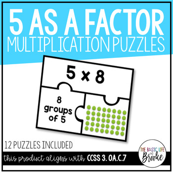 3.OA.C.7 - Multiplication Puzzles: Five as a Factor!