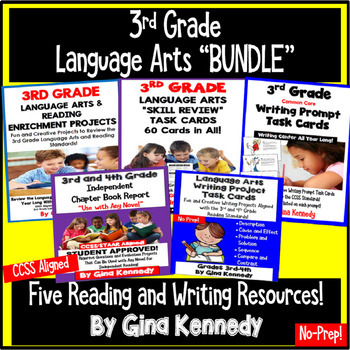3rd Grade Language Arts and Reading Bundle