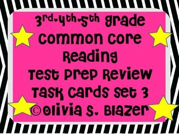 3rd, 4th, 5th Grade Common Core Comprehensive Reading Revi