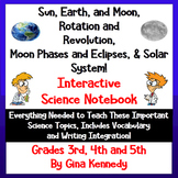 Solar System & Moon Phases Interactive Notebook, Lessons,