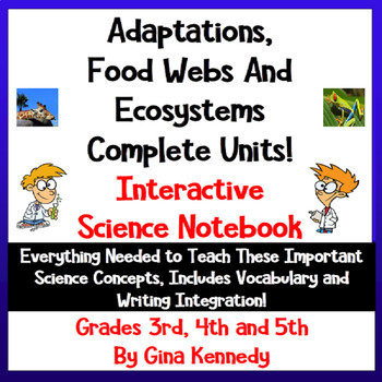 Animal Adaptations, Ecosystems, & Habitats Interactive Not