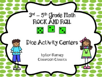 3rd - 5th Grade Math Rock and Roll Dice Activity Centers