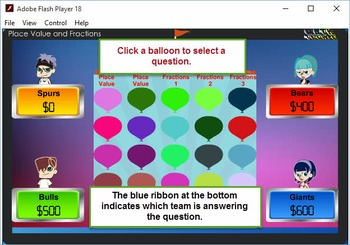 3rd Balloon Pop Module 1 – Place Value and Fractions – 201