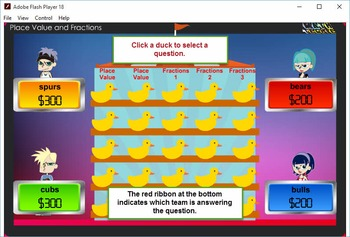 3rd Duck game Module 2 –Fractions, Number and Operations –