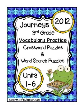 Third Grade Journeys 2012 Vocabulary Crossword & Word Sear