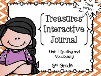 3rd Gr. Spelling and Vocab Interactive Journal- Unit 1 Tre